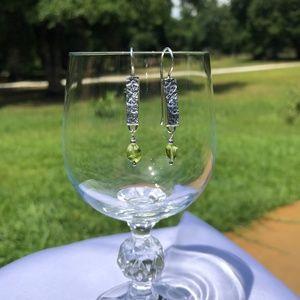 SILPADA .925 Silver Green Peridot Earrings W1378